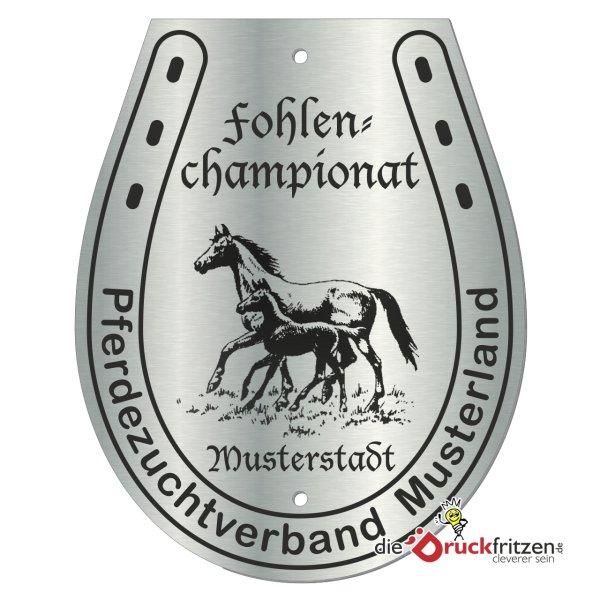 Edelstahl-Plaketten - Hufeisenform II - 120 x 150 mm