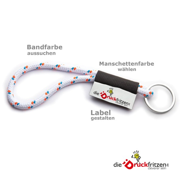 "Original Lanyards® ""Nautic 1"" - kurz Ø 8 x 175 mm"