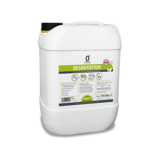 O³ SOLUTION Hand- und Oberflächendesinfektion - 10 Liter
