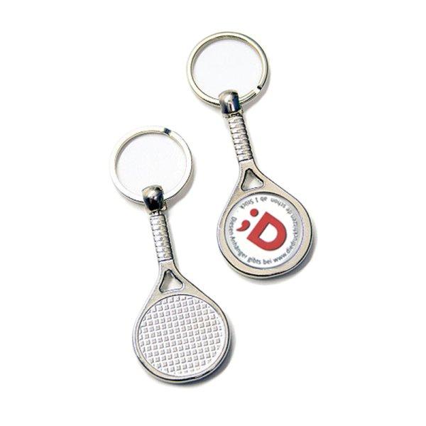 "Schlüsselanhänger ""Tennis"" aus Metall"