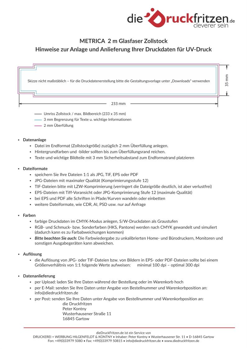 dieDruckfritzen_Datenblatt_Zollstock_METRICA_Glasfaser_2m_UV