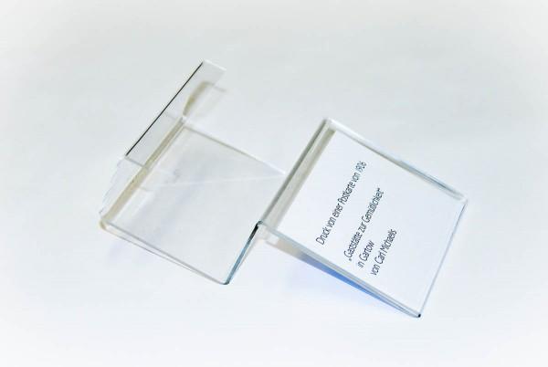 Klemmschild für 4 cm Keilrahmen