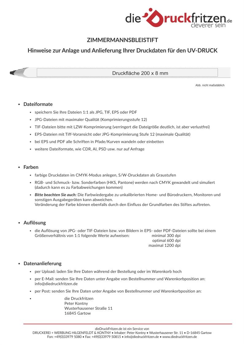 dieDruckfritzen_Datenblatt_ZIMMERMANNSBLEISTIFT_UV-Druck