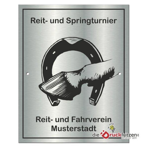 Edelstahl-Plaketten - Rechteck - spitze Ecken - 120 x 150 mm