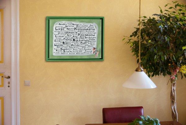 """""""Verlorene Wörter 1"""" - Leinwand auf Keilrahmen inkl. Schattenfugen-Rahmen"""