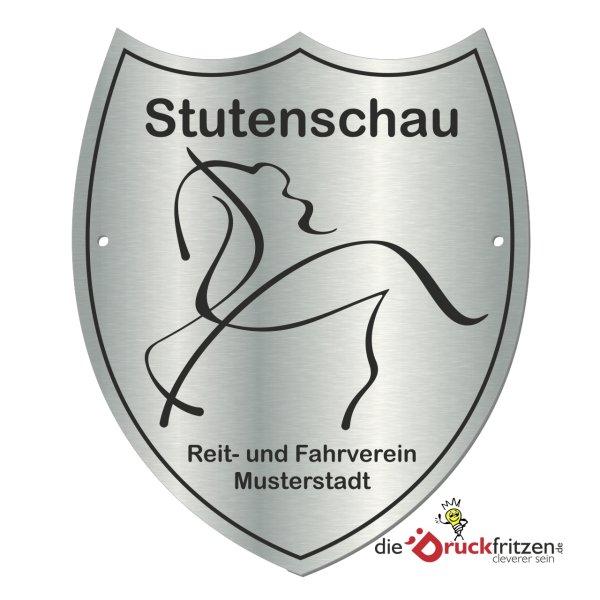 Edelstahl-Plaketten - Wappenform II - 150 x 180 mm