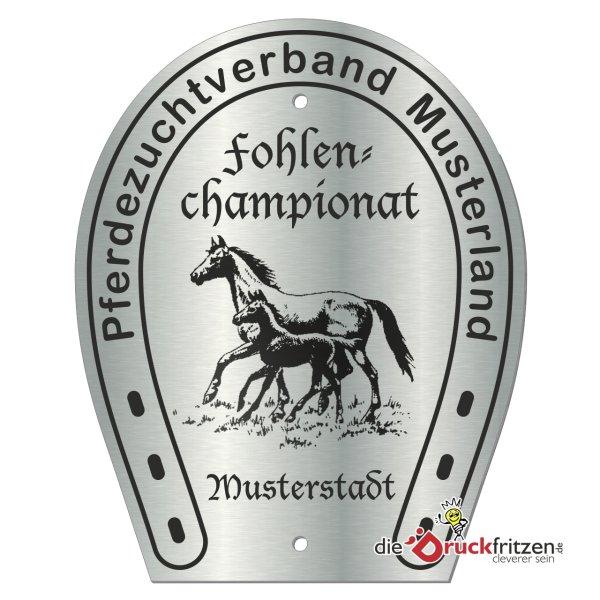 Edelstahl-Plaketten - Hufeisenform I - 120 x 150 mm