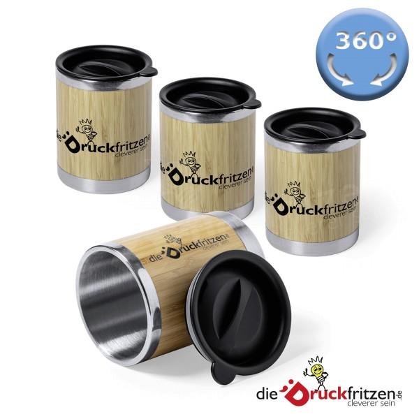 Thermobecher aus Bambus und Edelstahl - 300 ml