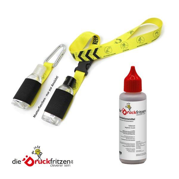 dieDruckfritzen.de - Desinfektionsmittel mit Flaschenhalter