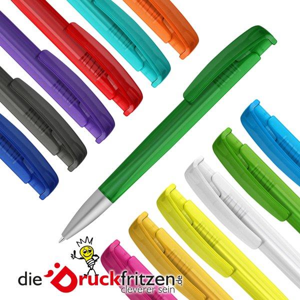 dieDruckfritzen.de Kunststoff-Kugelschreiber LINEO frozen SI