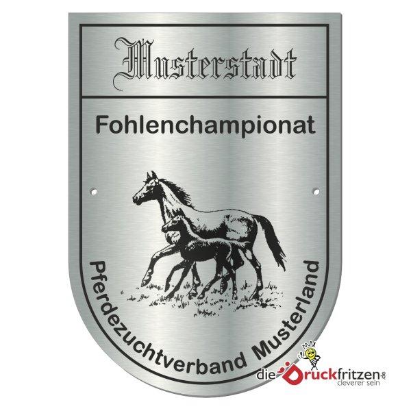 Edelstahl-Plaketten - Spatenform - 110 x 155 mm