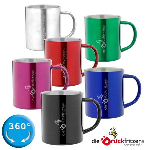 Edelstahltasse in verschiedenen Farben - 280 ml - Alle