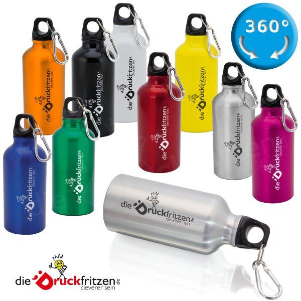 Trinkflasche mit Karabiner - 400 ml